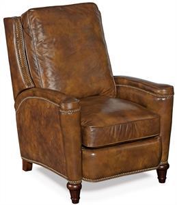 Ocher Leather Recliner Chair Santa Barbara