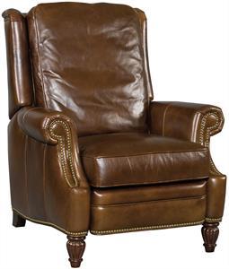 Cognac Leather Recliner Santa Barbara