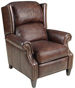 Everest Brown Leather Recliner Santa Barbara