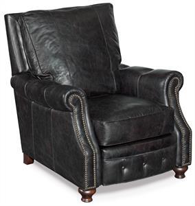 Rolf Black Leather Recliner Santa Barbara