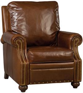 Umber Leather Recliner Santa Barbara