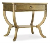 Mirrored Drawer Accent Table Santa Barbara