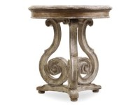 Fiddle Round Accent Table Santa Barbara