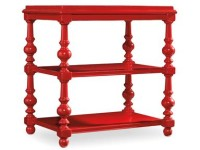 Lux Red Wooden Accent Table Santa Barbara