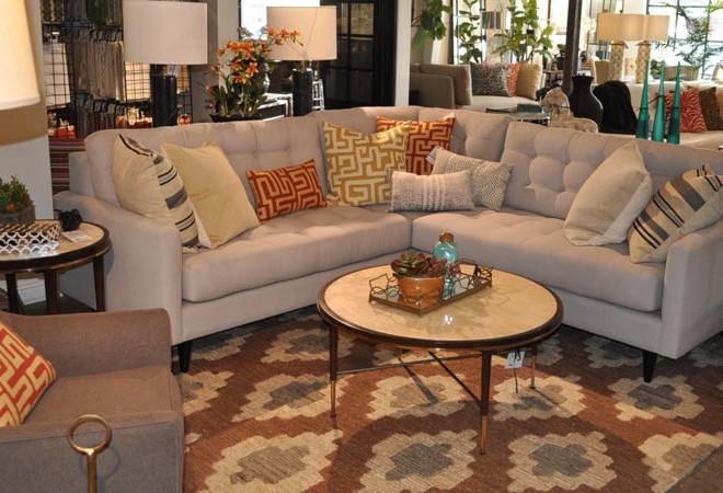 Slate Sectional Sofa Vignette