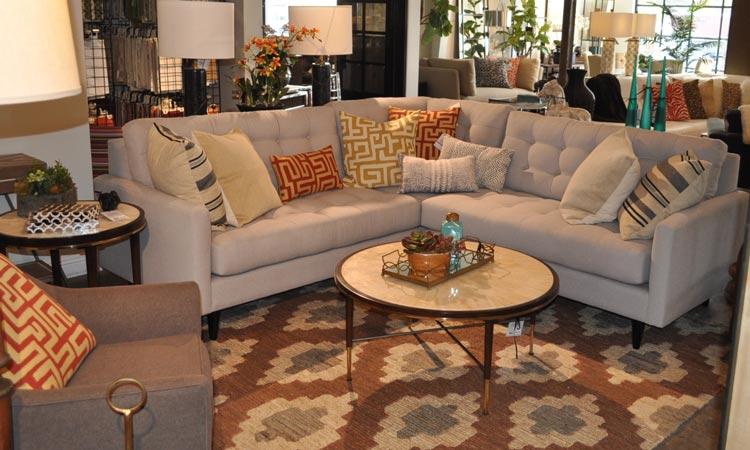 Slate Sectional Sofa Vignette