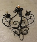 Antique Iron Sconce Santa Barbara