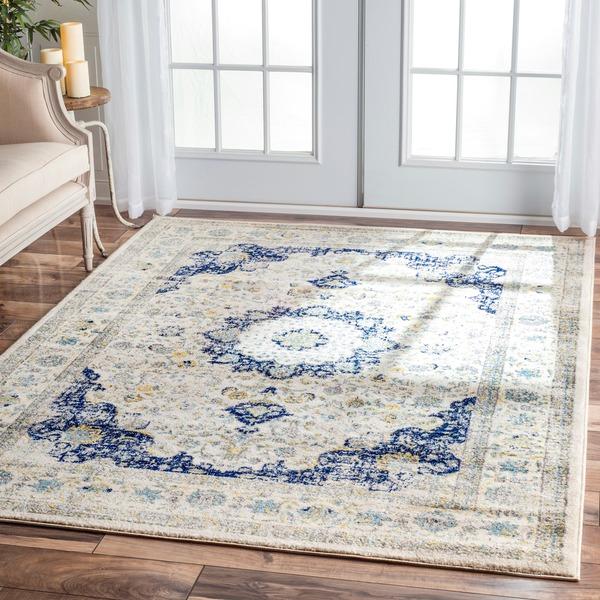 Living room antique rug