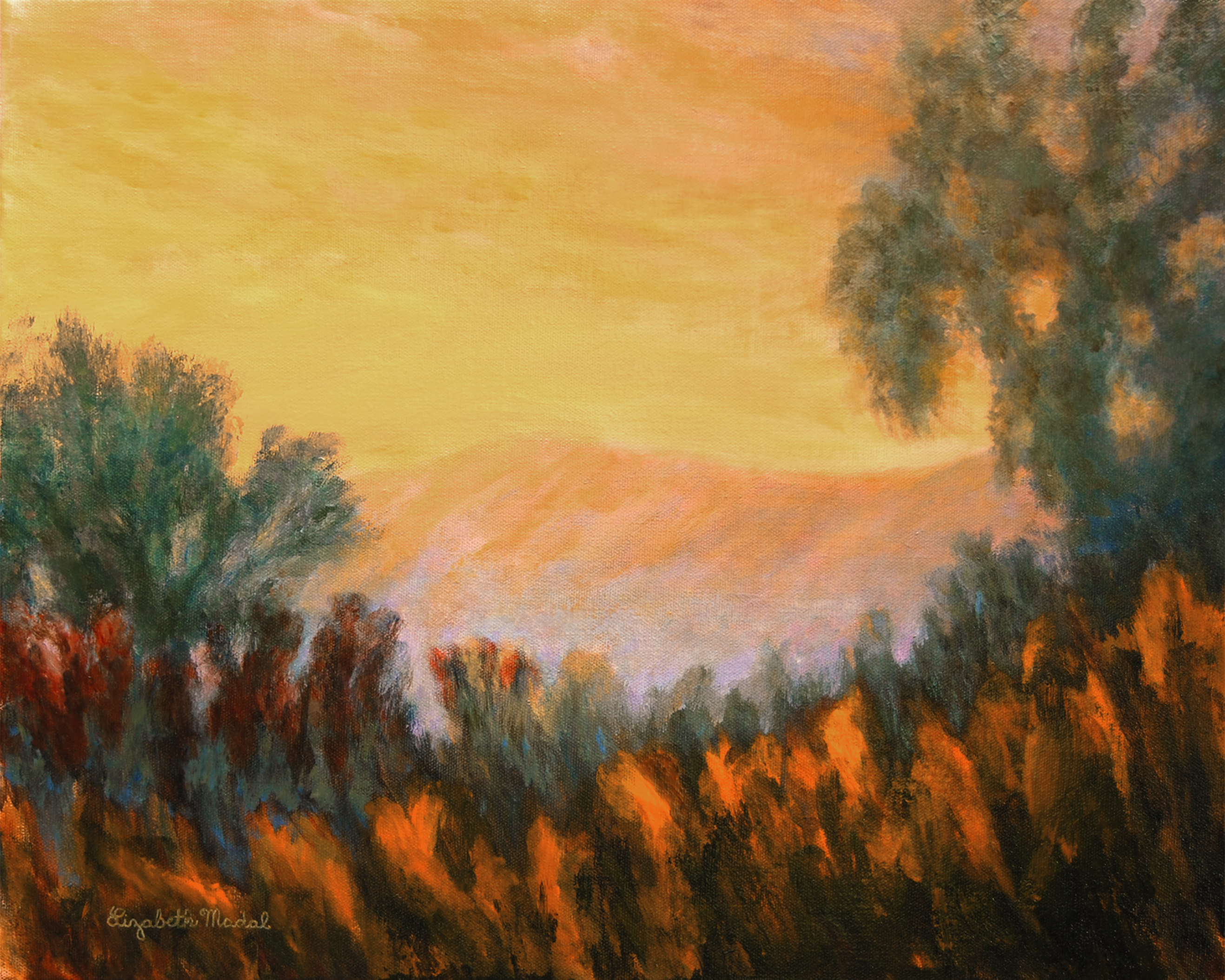 Painting: More Mesa at Dusk
