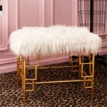 Faux Fur Bench Santa Barbara Design center 1
