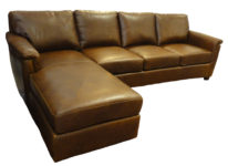Russ leather sectional santa barbara design center