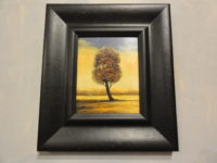 Lone Tree Oil Painting. A piece of wall art sold by the Santa Barbara Design Center, Rugs and More in Santa Barbara, California.