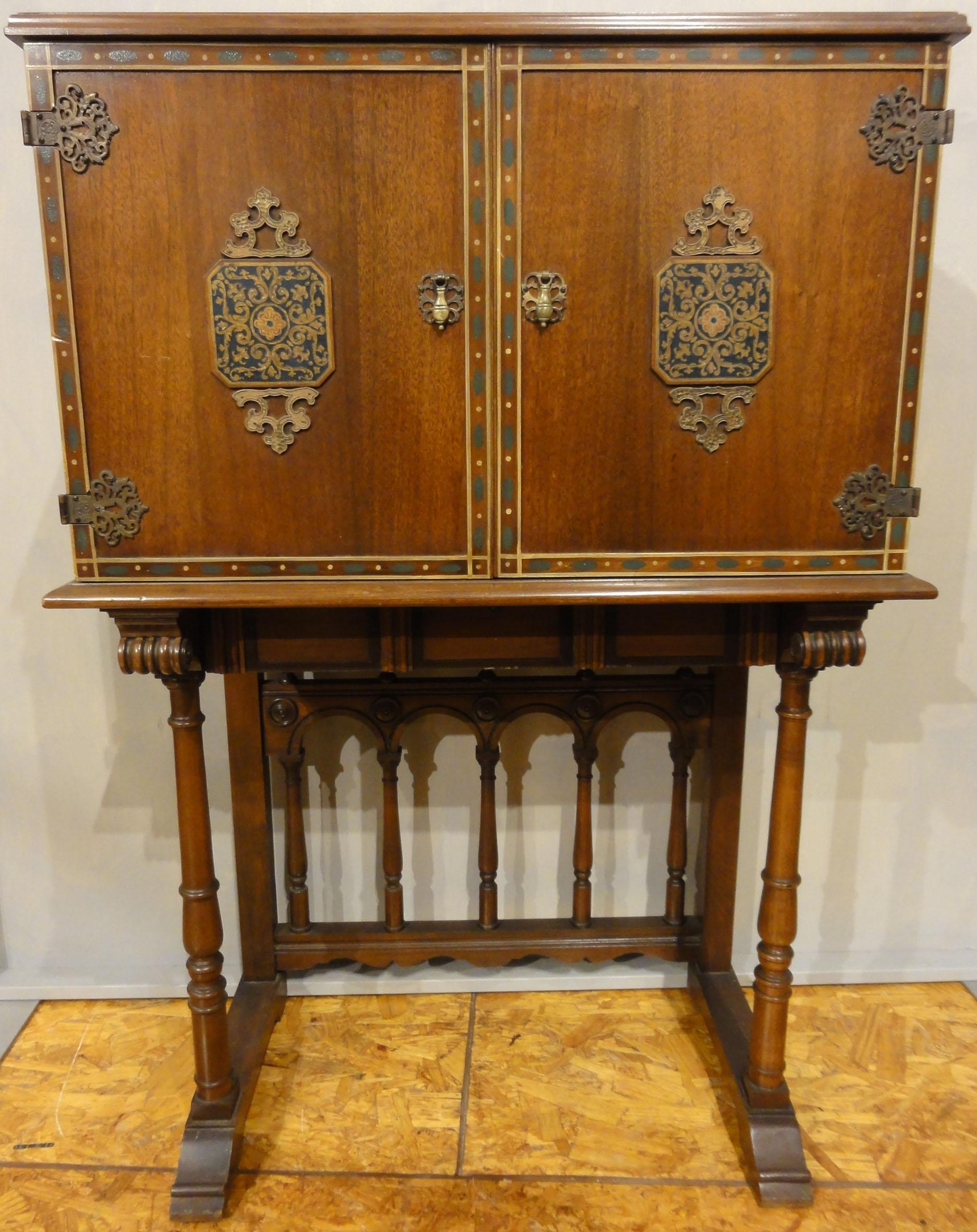 Antique Radio Cabinet. A genuine good condition antique sold by the Santa Barbara Design Center in Santa Barbara, California.