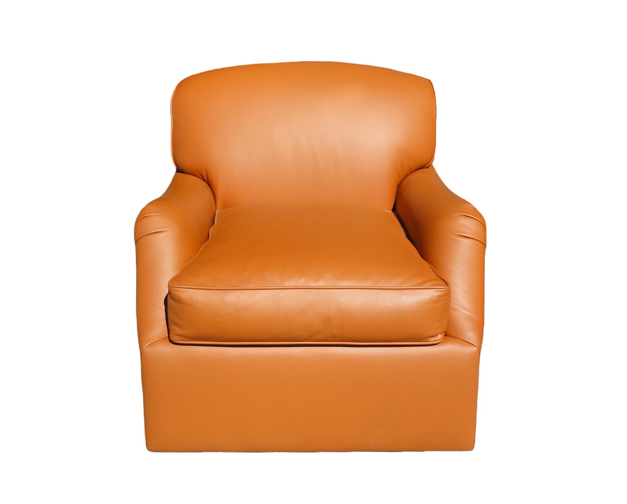 Hermes Leather Swivel Chair santa barbara design center