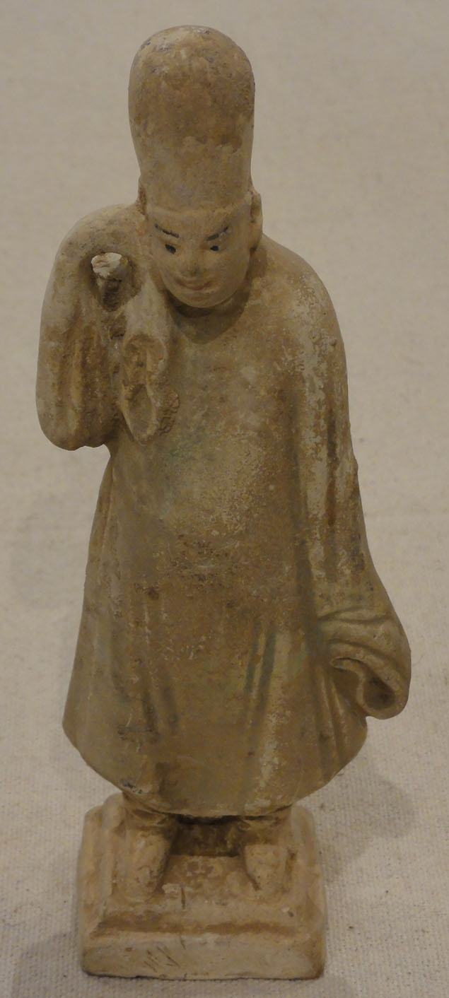 Tang Dynasty Clay Carrier Tomb Figure Green (Right)