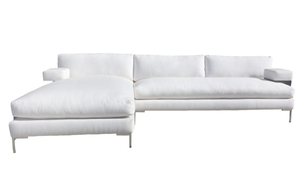Paulette Modern Sectional w/ Chaise santa barbara design center couch -1