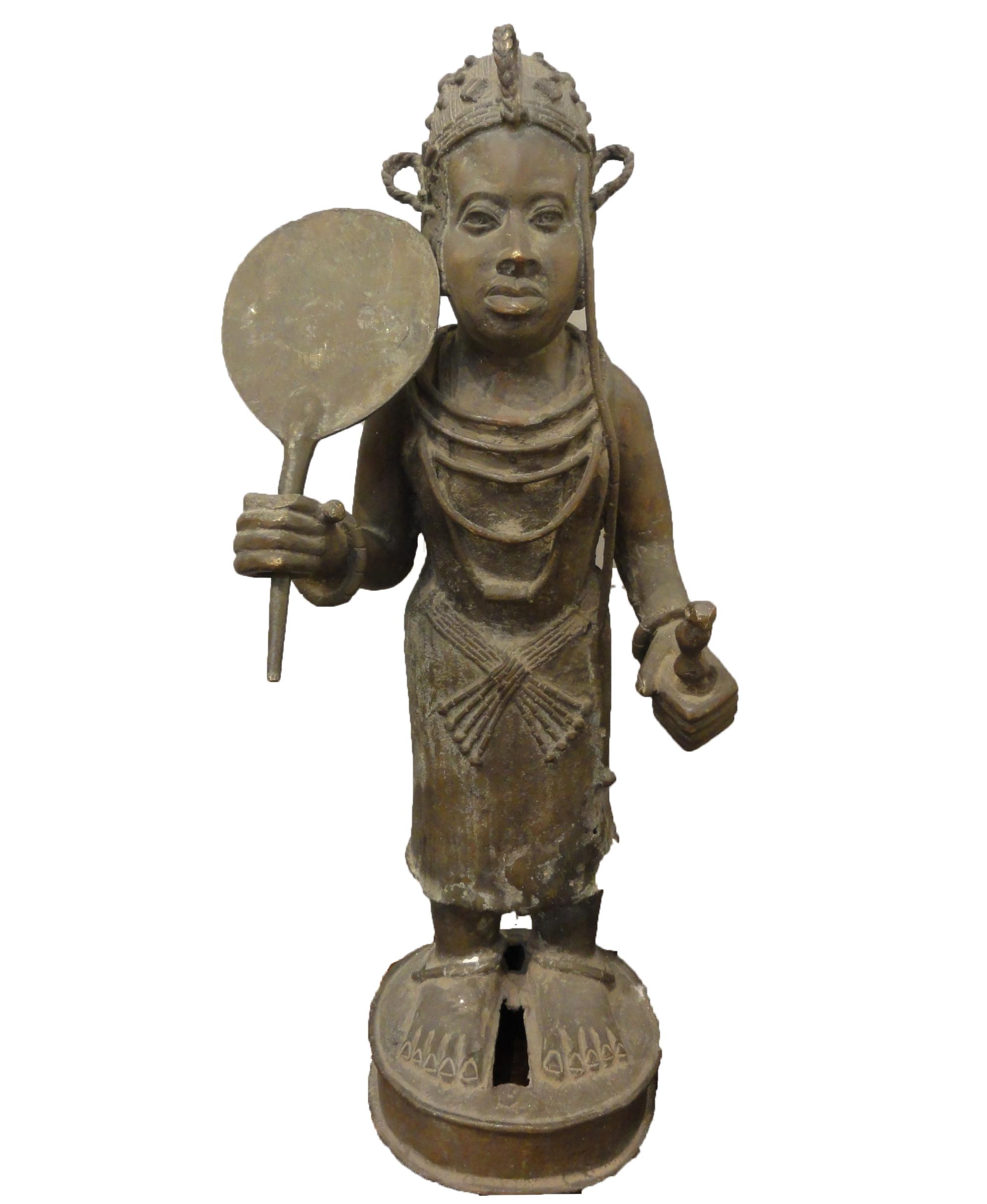 BENIN KINGDOM - LAST KING, OBA - Circa 1900 santa barbara design center statue -