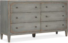 Gray Six Drawer Dresser santa barbara design center -