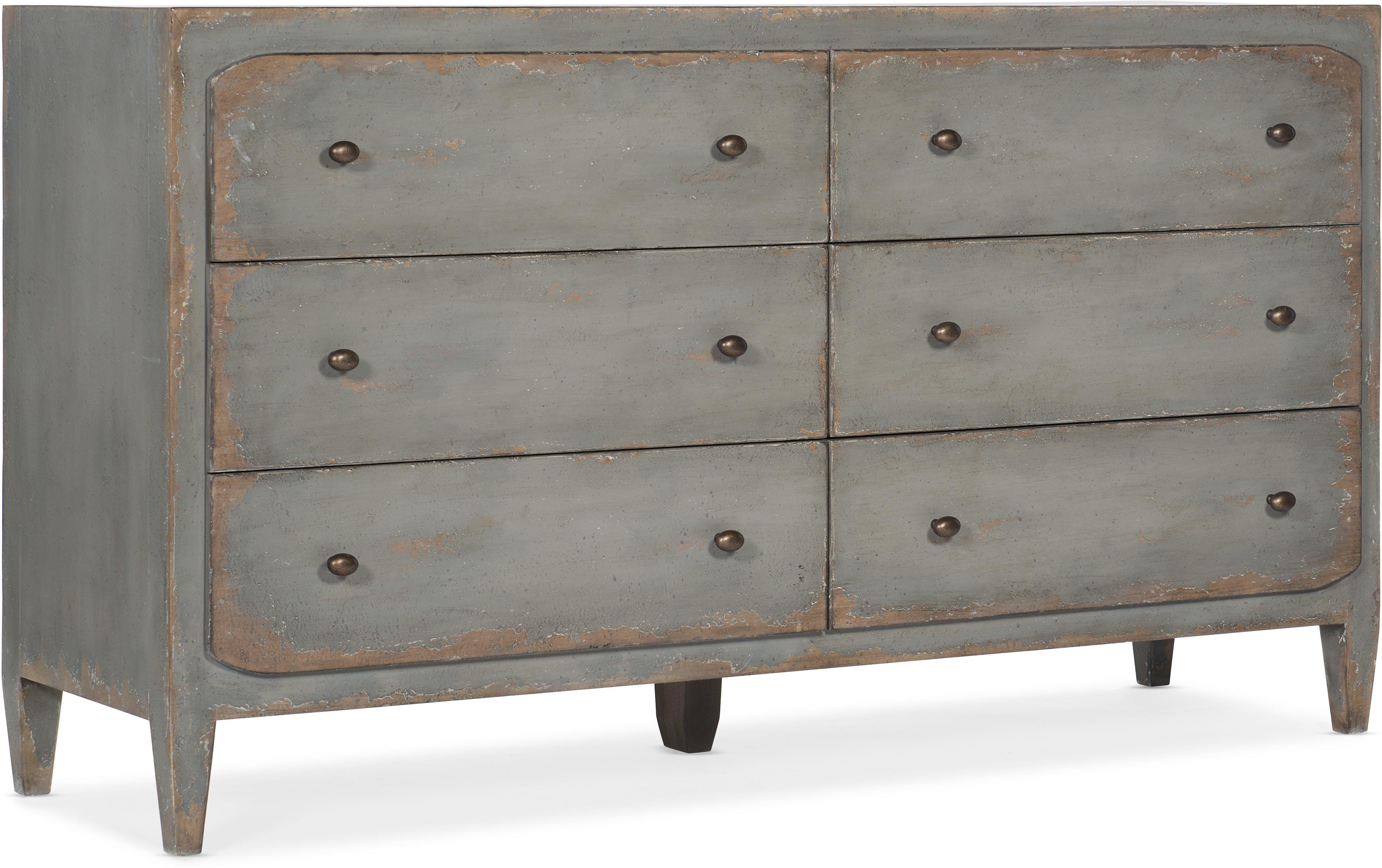 Gray Six Drawer Dresser santa barbara design center -