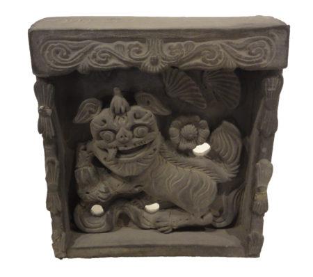 Chinese Temple Wall Foo-Dog Tile santa barbara design center 33293-