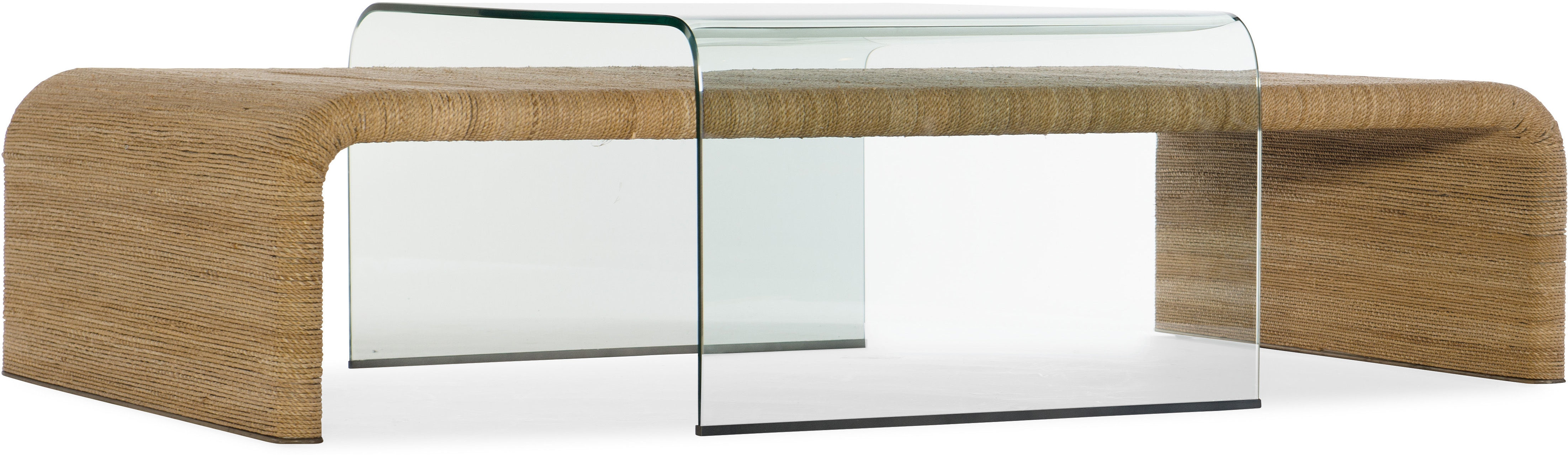 Amani Rope and Glass Cocktail Table