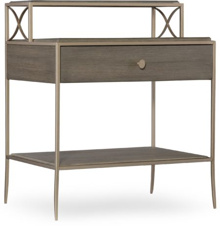 Leg Nightstand santa barbara design center hooker furniture 5990-90116-DKW