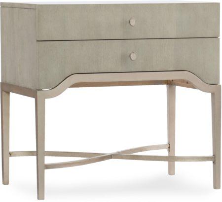 Two-Drawer Nightstand sana barbaa design center hooker furniture 5990-90016-LTWD
