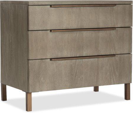 Three-Drawer Nightstand santa barbara design center hooker furniture 6075-90016-LTWD