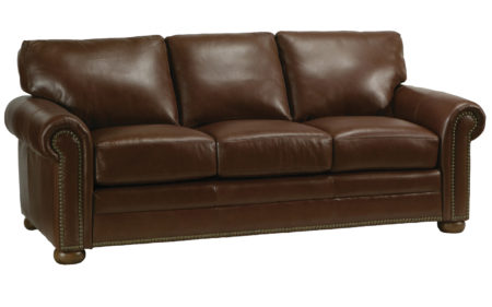 Athens Sofa by omnia leather santa barbara dsign center