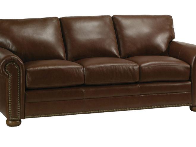 Athens Sofa by omnia leather santa barbara dsign center