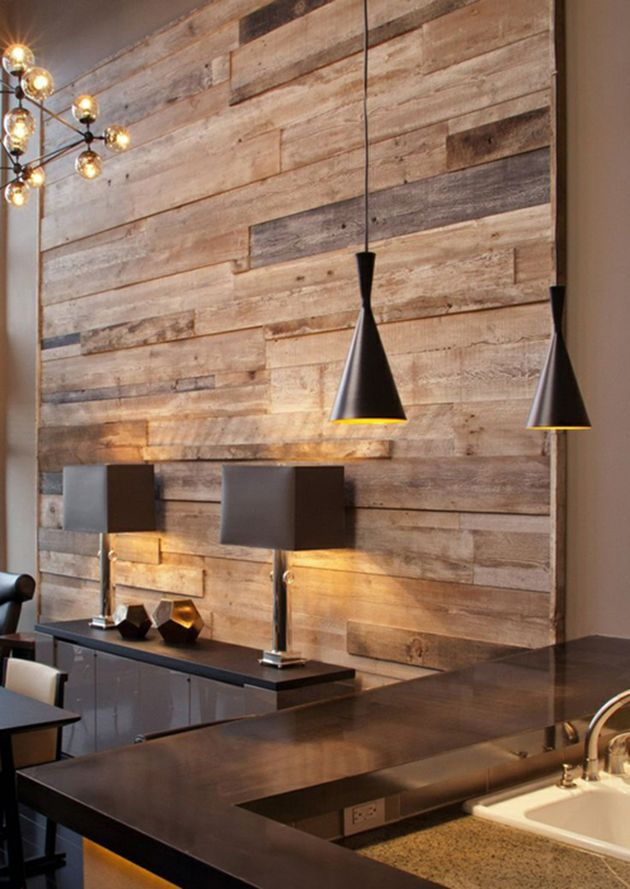 Along with these accessories your rustic design should include some wooden pieces or distressed furniture. For example, a wooden coffee table or a rustic chair. In most cases having a a pallet wall makes a huge difference in making your home look rustic. Pallet Wall
