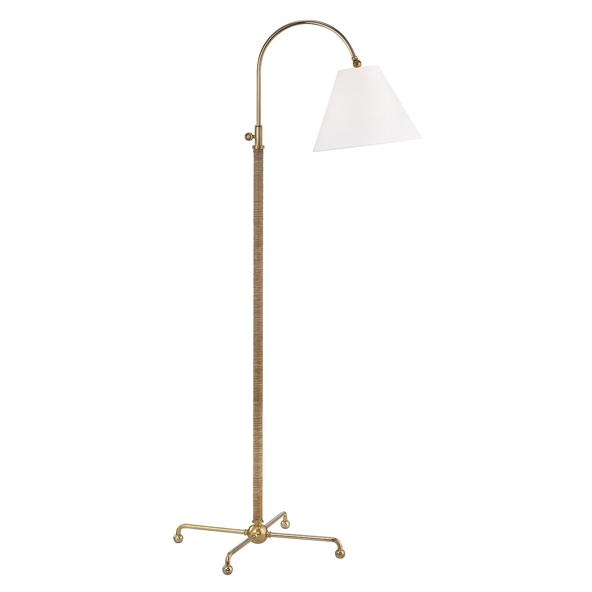 """Width/Diameter 30.50"""" Height 62.25"""" Extension 25.00"""" Backplate/Canopy/Base 21.00"""" Shade Material linen Designer mark d. sikes Number of Lamps 1 Wattage 75w ea."""