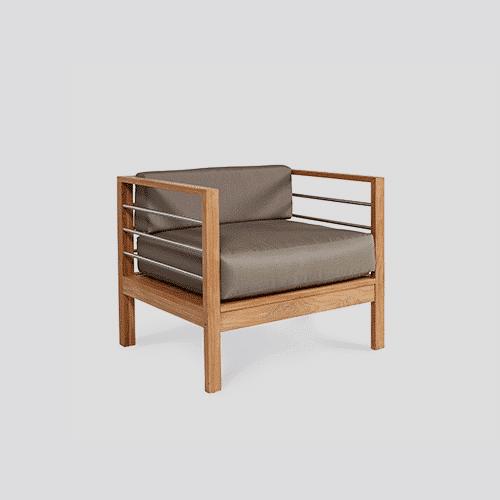 Modern Summerland Teak Chair santa barbara design center -
