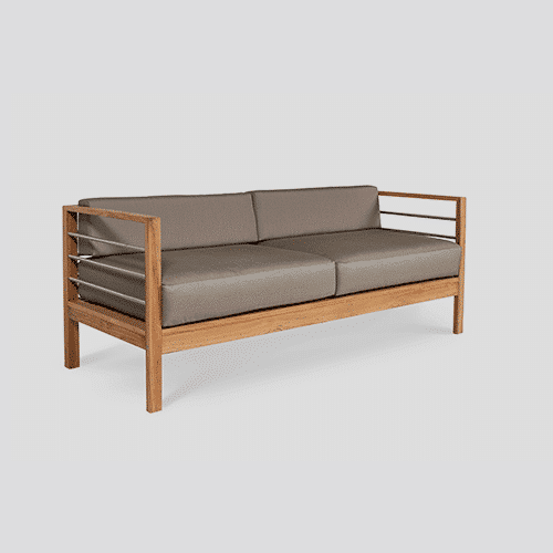 Modern Summerland Teak Sofa Product Dimension: 71 x 28.75 x 27.5 Product Weight: 60 lbs