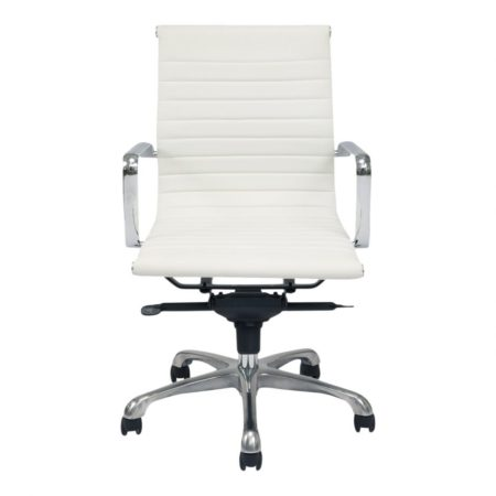 Ozzie Low Back Office Chair - White santa barbara design center -