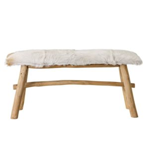 Goat Wooden Bench